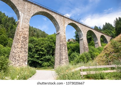 An image of the Ravenna Bridge railway viaduct on the Höllental Railway line in the Black Forest, in Breitnau, Breisgau-Hochschwarzwald, Baden-Württemberg, Germany