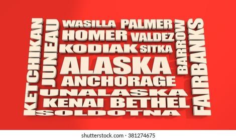 Image relative to usa travel. Alaska state cities list