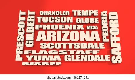 Image relative to usa travel. Arizona state cities
