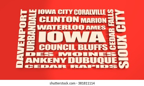 image relative to usa travel. Iowa state cities list