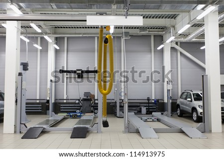 Image repair garage stock photo edit now  shutterstock
