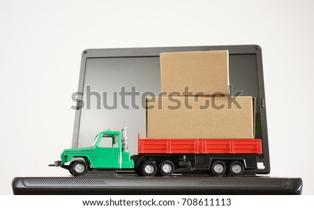 Image Representing Infrared Truck Stand On Stock Photo (Edit
