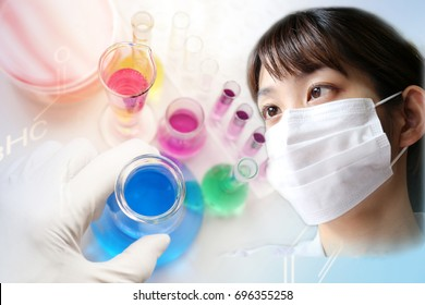Image of research worker at the lab