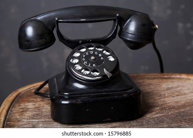 An image of retro telephone. Photographed in the studio.