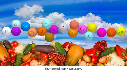 Image of ripe vegetables against the sky