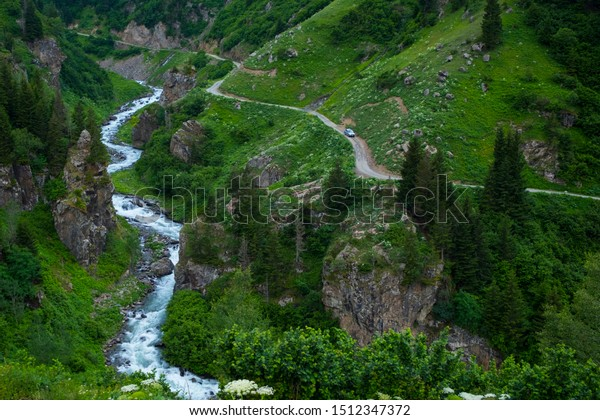 Image of river and hills