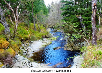 An image of a river in Rannoch forest, Perthshire, Scotland.