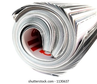 image of a rolled up magazine
