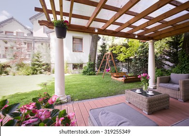 Image of a romantic place to relax in garden