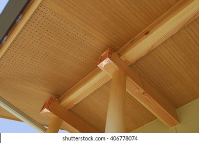 Image of the roof of the Japanese house