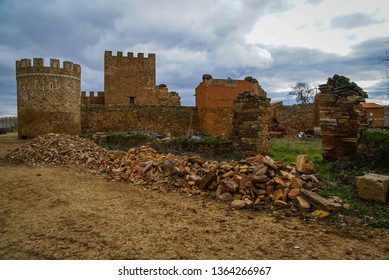 Image of ruined castle of Pimentel Alija in province of Leon in Castilla y Leon in Spain