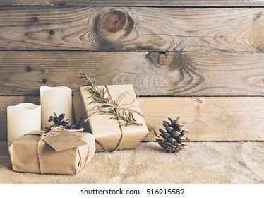 Image of rustic christmas scene.