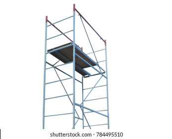 The image of scaffold under the white background