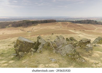 Image of the scarred landscape of Bradgate Park, Leicestershire, England, due to the erosion caused by walkers, cyclists and horse riders.