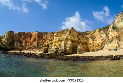 Image of a scenic beach at Lagos, Portugal