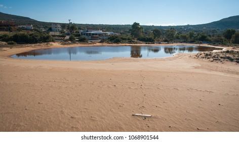 Image of scenic Simos beach on Elafonisos island in Greece