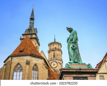 An image of the Schiller statue in Stuttgart Germany