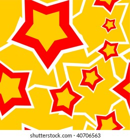 Image. Seamless ornament with star in color 98. More seamless see in portfolio