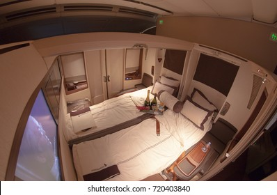 Image of the seat in Suite Class Cabin on Singapore Airlines. Photo taken on May 3, 2016