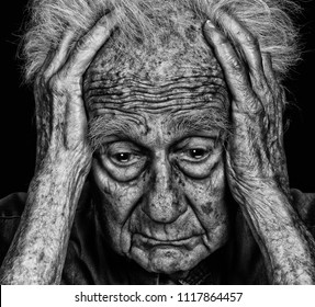 Image of senior man with Deep Sorrow