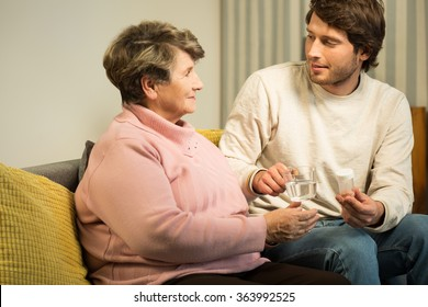 Image of senior woman having private home care