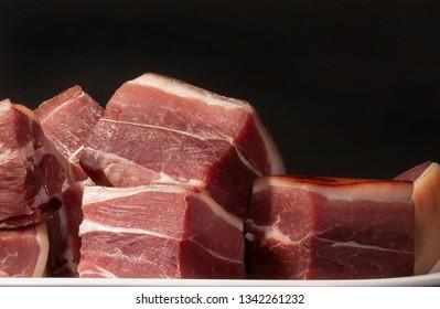 image of serrano ham cut into squares