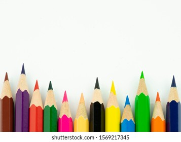 An image of set of color pencils. - Shutterstock ID 1569217345