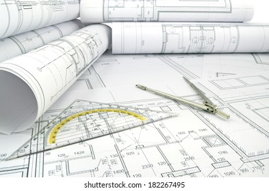 Image of several drawings for the project engineer jobs/Project drawings