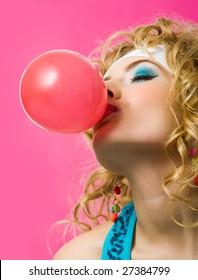 Sorry, blowing bubble fetish gum woman