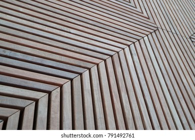 The image of a shield from wooden slats.