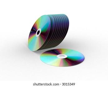 IMAGE SHOWING CD'S DVD'S COMPACT DISKS DIGITAL VIDEO DISKS.