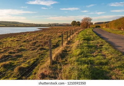 An image showing a section of the country road around Eyebrook Reservoir, Soke Dry, Rutland, England, UK