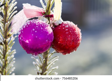Image shows a christmas tree with bells and snowflakes