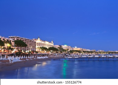 image shows the cosmopolitan city of Cannes, in the French Riviera