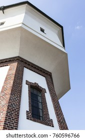 Image shows a detail view of the water tower of Langeoog