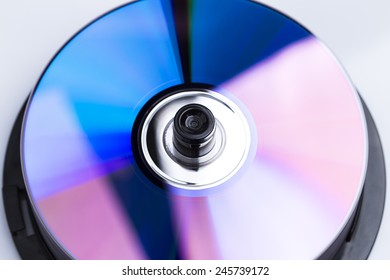 Image shows some CD's isolated on white background