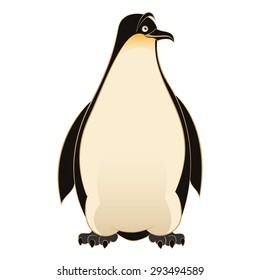 Image of an smiling cartoon Penguin