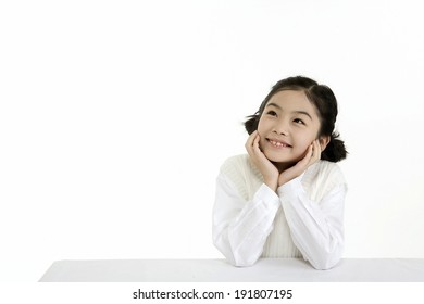 The image of smiling girl