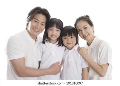 The image of smiling Korean family