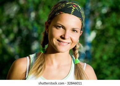 Image of smiling teen looking at camera