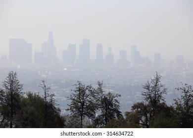 Image of smog in the air Los Angeles California