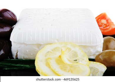 image of soft feta cheese on black