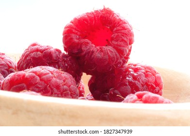 image of soft fruit raspberries on white