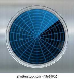 image of a sonar or radar screen