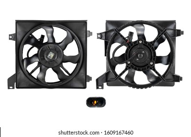 Image of spare part car fan motor, car part isolated on white background