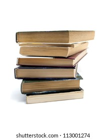 Image of stack of books isolated