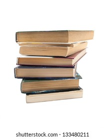Image of stack of books isolated on the white background