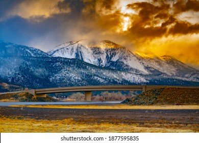 Image of a storm rolling through slide mountain, in washoe valley nevada. Near Reno Nevada.
