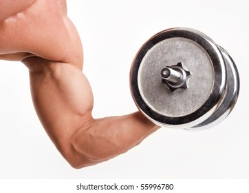 An image of a strong man's hand doing exercises
