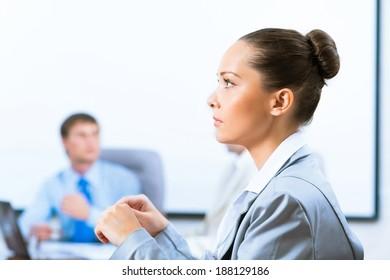 image of a successful beautiful business woman
